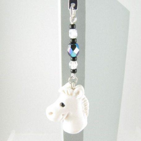 White horse bookmark