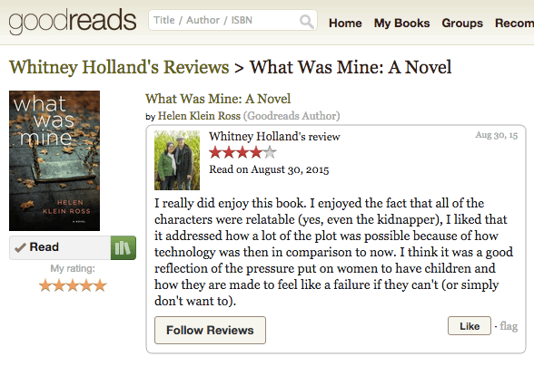 first Goodreads review 2015-09-02 22.31.13