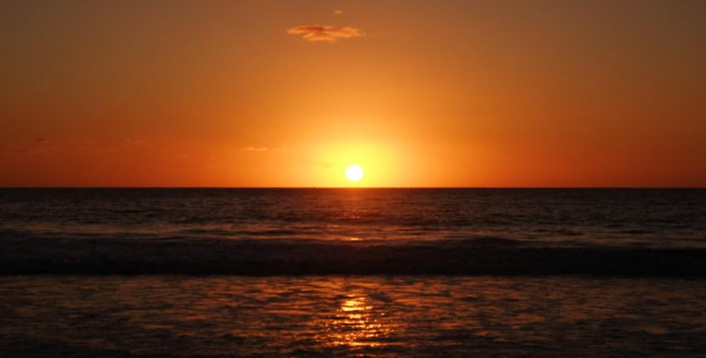 Those Pacific Ocean sunsets are pretty impressive