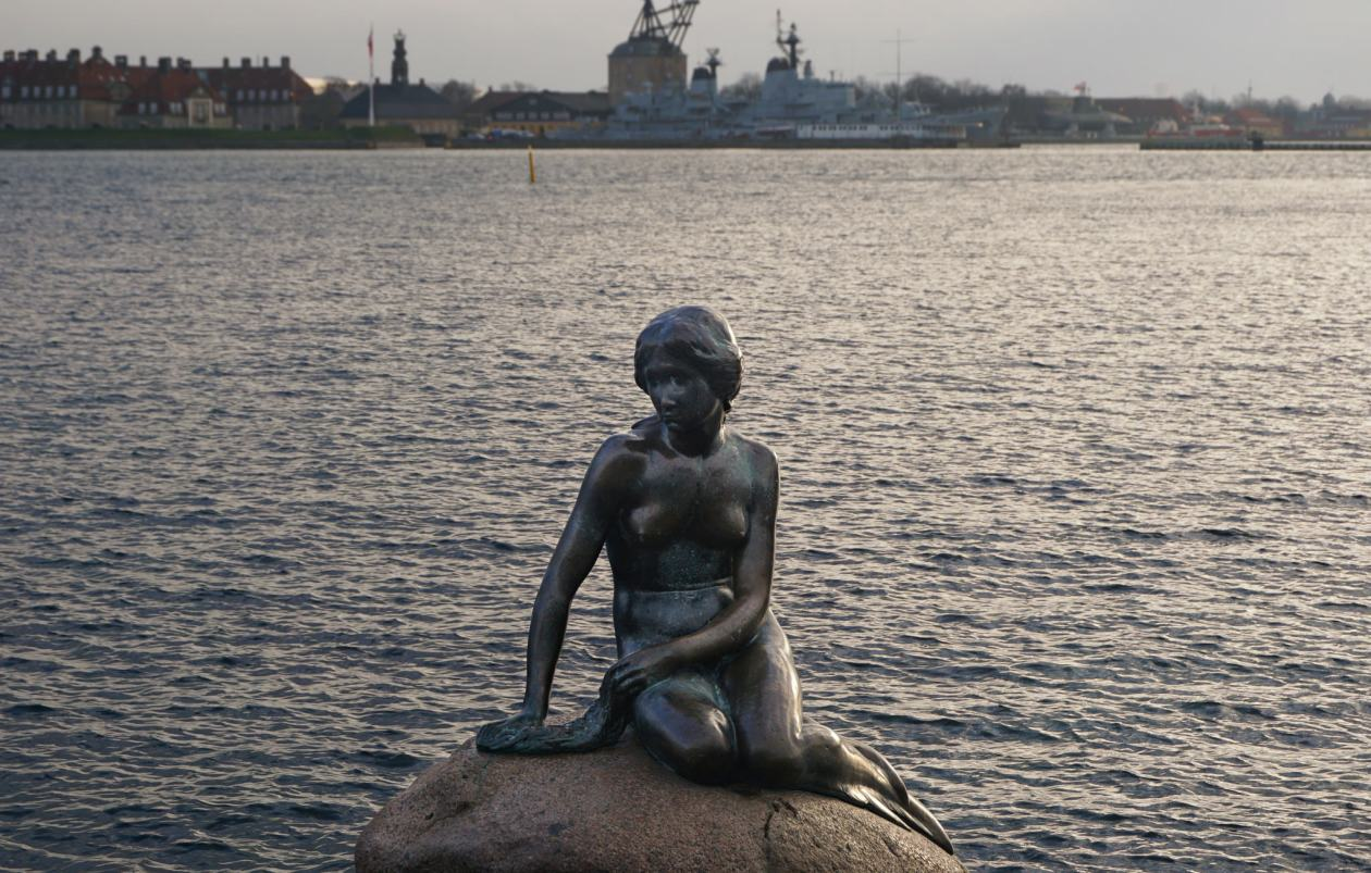 The Little Mermaid, Copenhagen. We nearly fell in the harbour trying to get this picture.