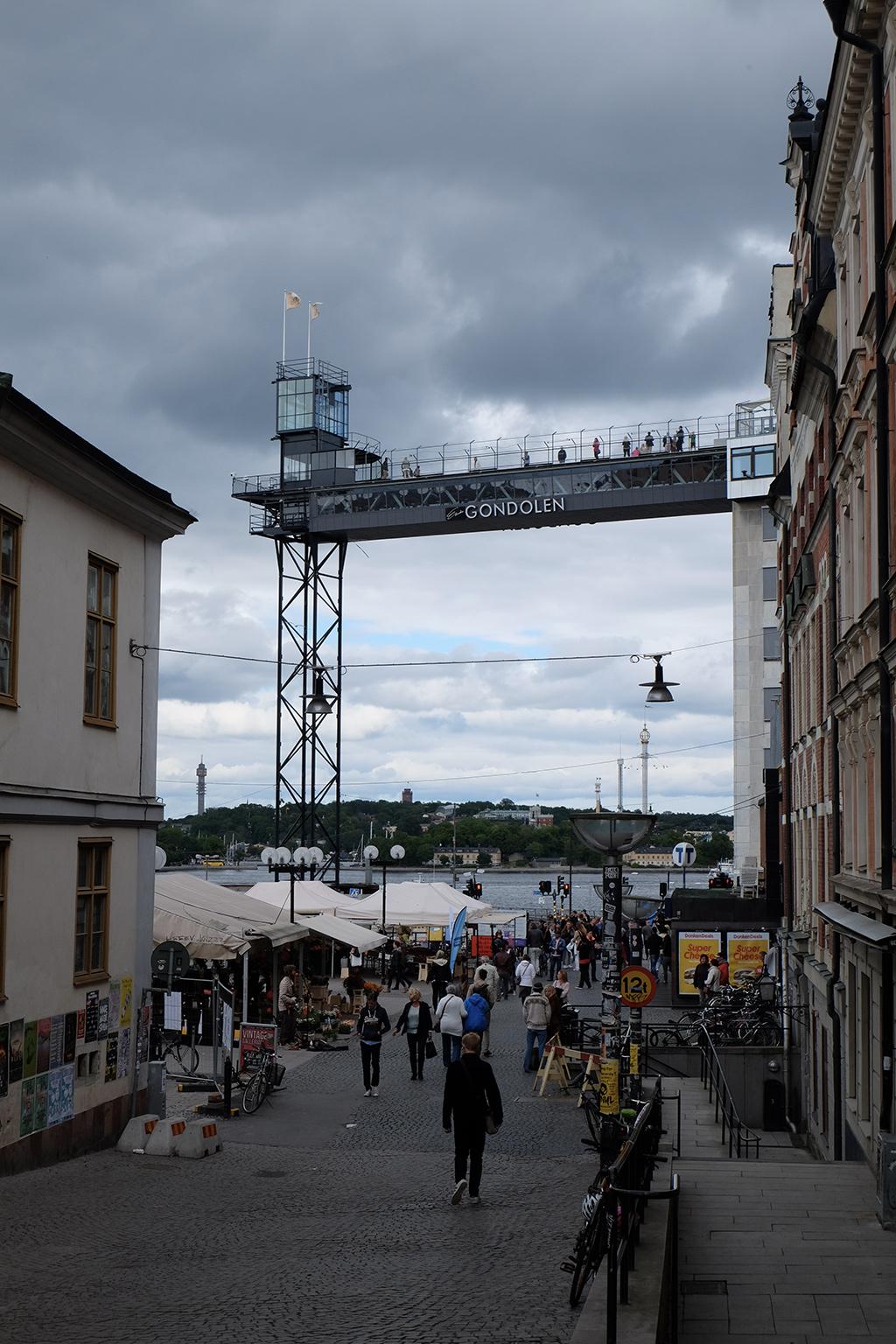 The Gondolen viewing platform and restaurant, Slussen