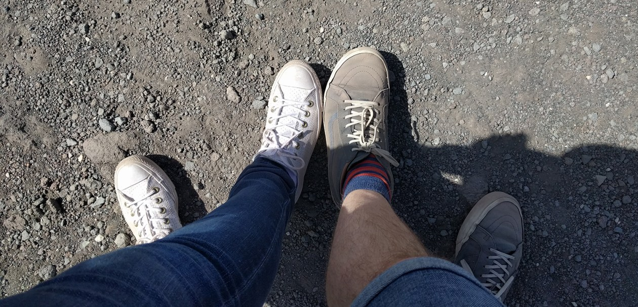 Our shoes after climbing Vesuvius