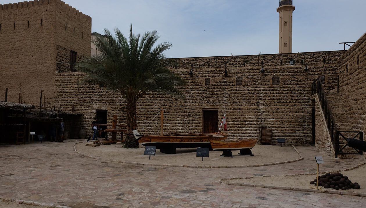 The courtyard at the Dubai Museum