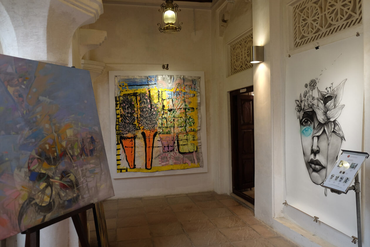 Cool art and great food and drink at MAKE art cafe in the Bastakia Quarter