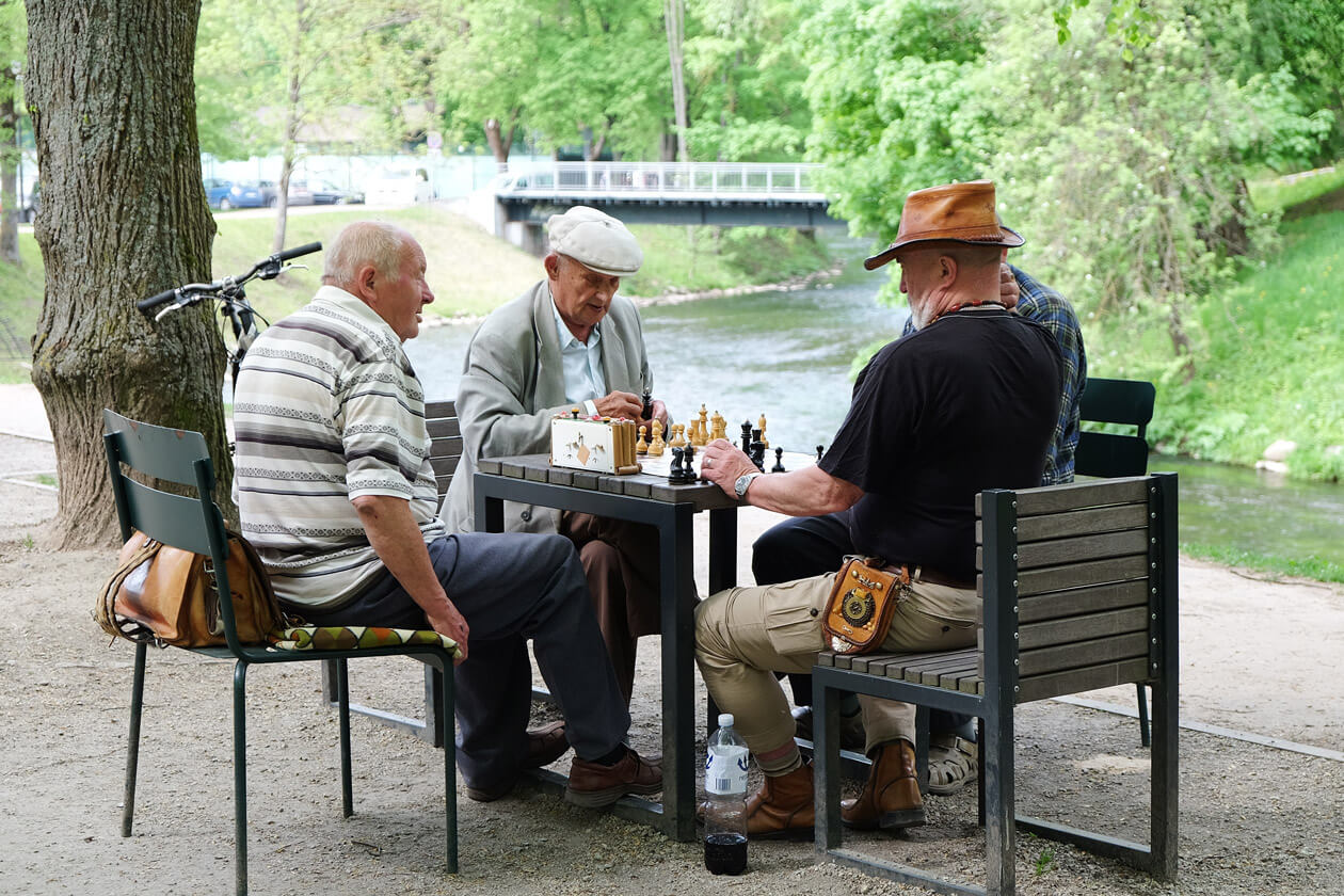 Playing chess in Bernardine Park