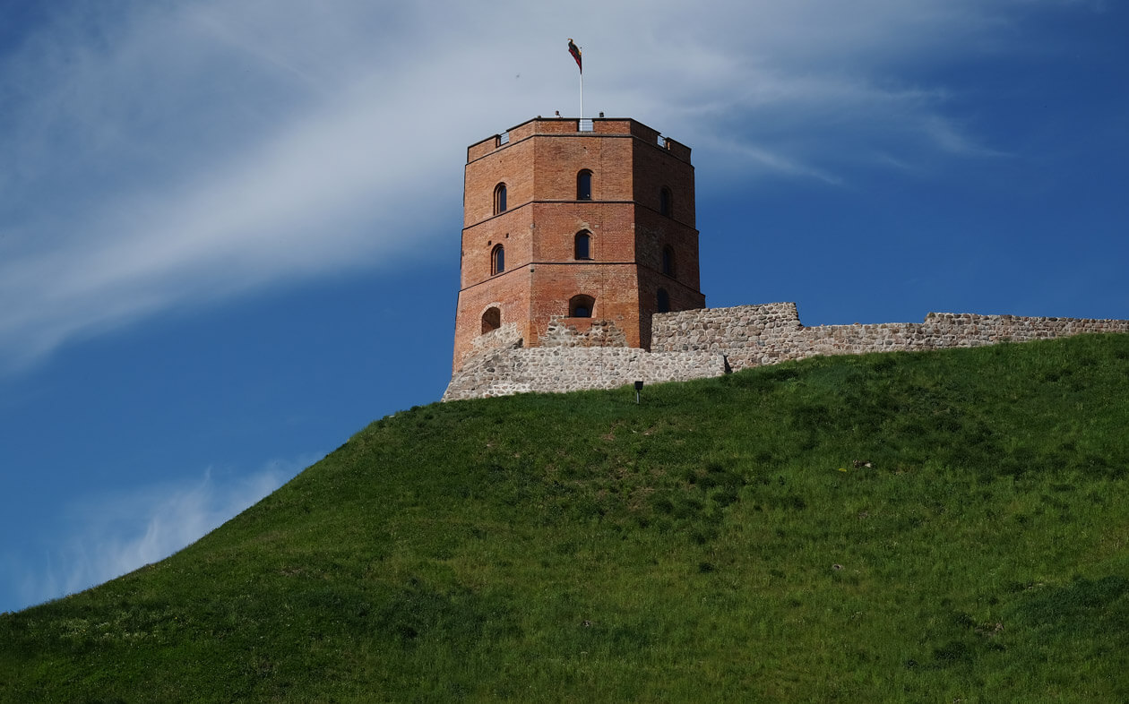 The red brick keep of Gediminas Tower