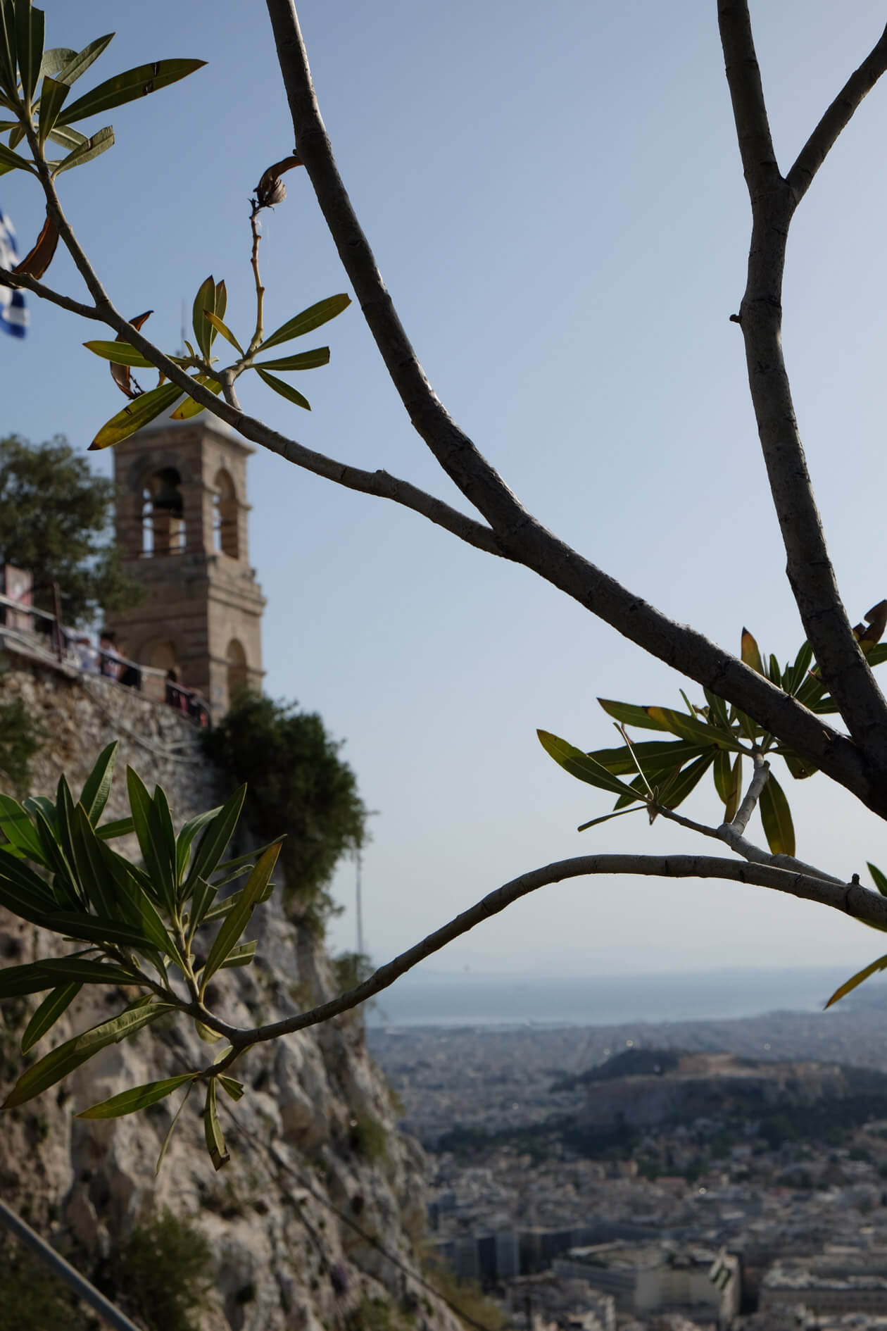 Looking out from one of the bars on Lycabettus Hill