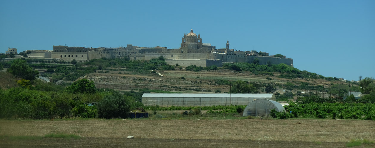 Mdina from a moving bus through a dirty window :)