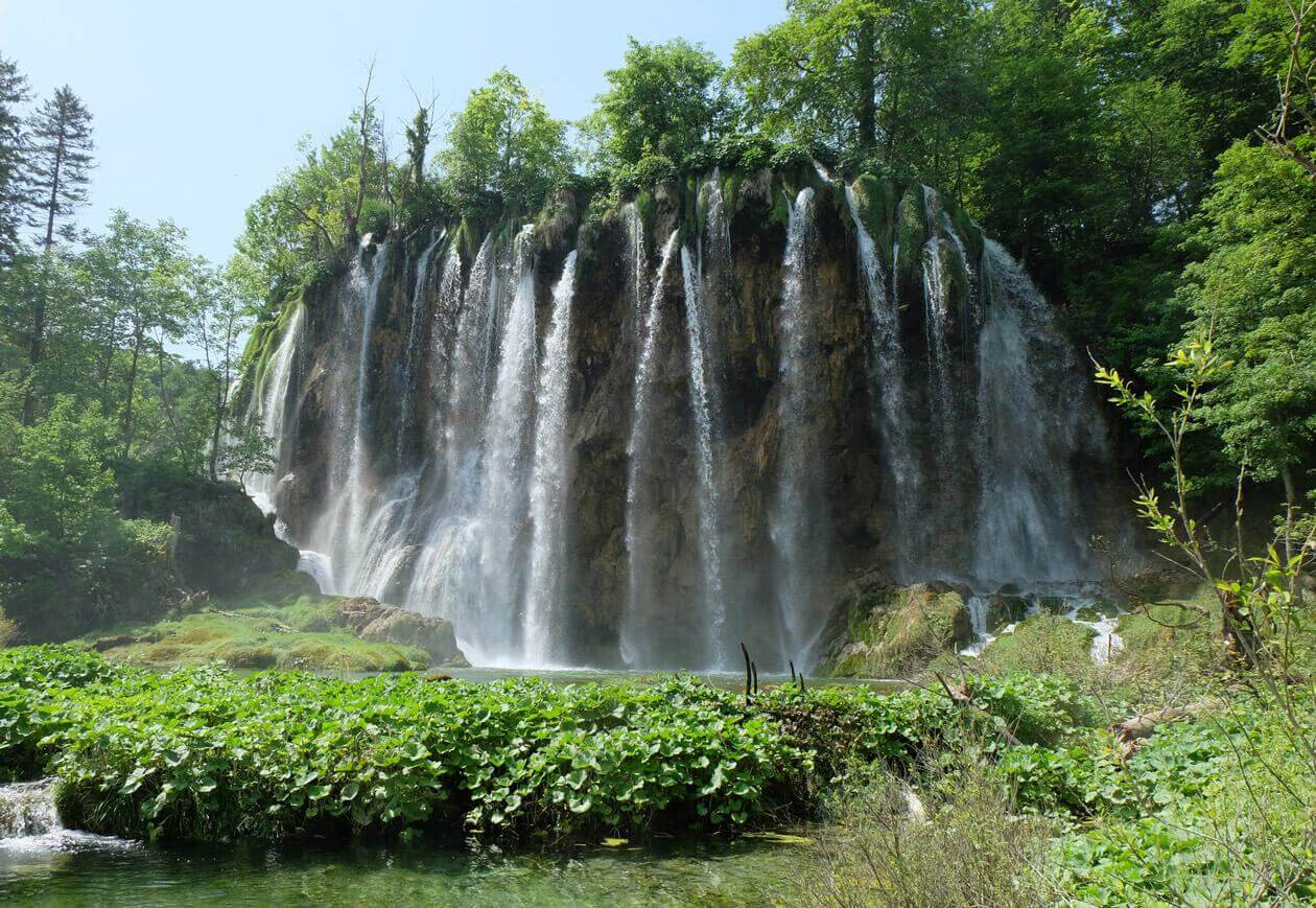 Just one of the waterfalls in the incredible Plitvice Lakes National Park