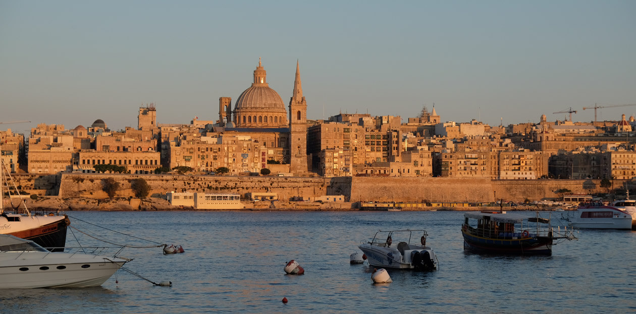 Valletta from the waterfront at Sliema