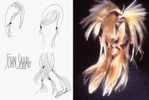 John Sahag Sketch and Hair for Fashion Show – 1997