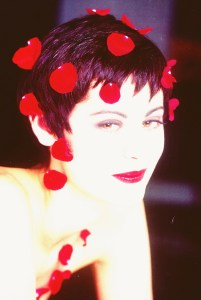 Hair With Rose Petals for Valentine's Day - 1993