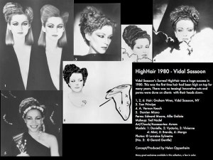 Vidal Sassoon HighHair Collage - 1980