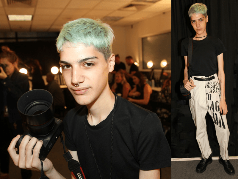 His Foam Green Hair @ Maison The Faux NYFW - 2018
