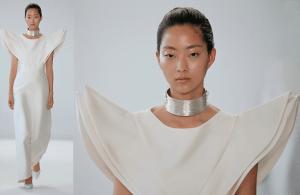 Stunning Dress & Choker @ Denibi NYFW – 2018