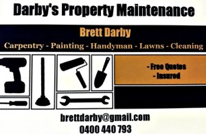 Darby's Property Maintenance - Brett Darby 0400 440 793