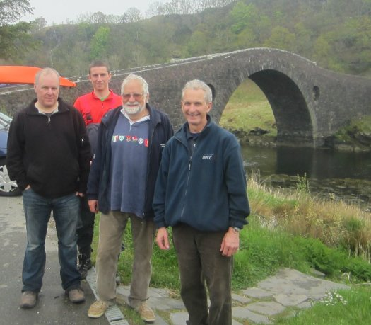 "Innes, Jamie, Geoff and David at Clachan Bridge (""Over the Atlantic"")"