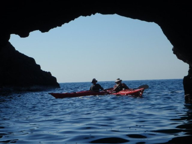 One of he many caves on the coast only really accessible by kayak