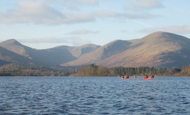 Members of Helensburgh Canoe Club head towards Glen Luss on their first paddle of 2017
