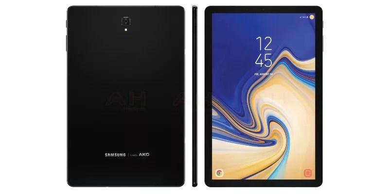 サムスンの次期タブレット「Galaxy Tab S4」と思われる画像がリークされたようです。