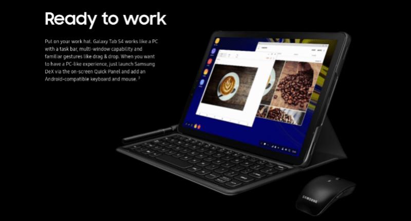 ついにサムスンが「Galaxy Tab S4」を発表しました!デスクトップモードやペンタブ機能を備えたタブレット。