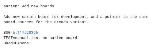 sarien Add new boards Iac8cd231 · Gerrit Code Review