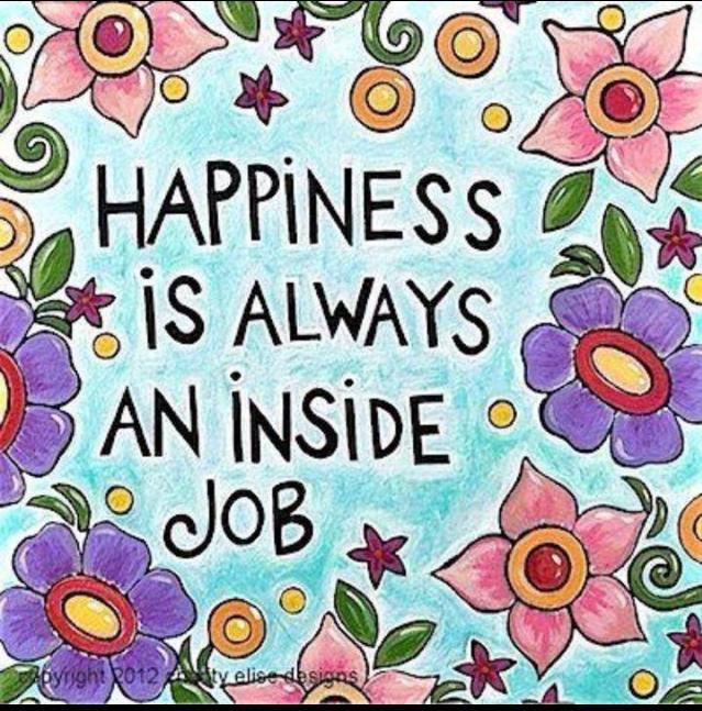 Lykke er alltid en jobb innover!