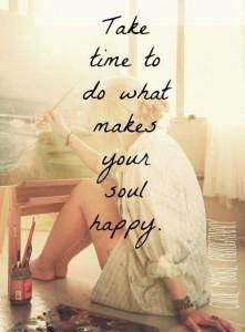 Ta deg tid til å gjøre det som gjør sjelen din glad!