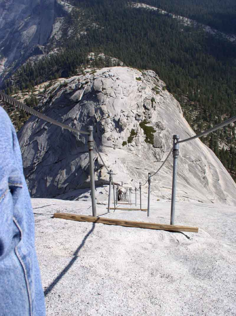 Half Dome Cable Route Hike Yosemite National Park  Map