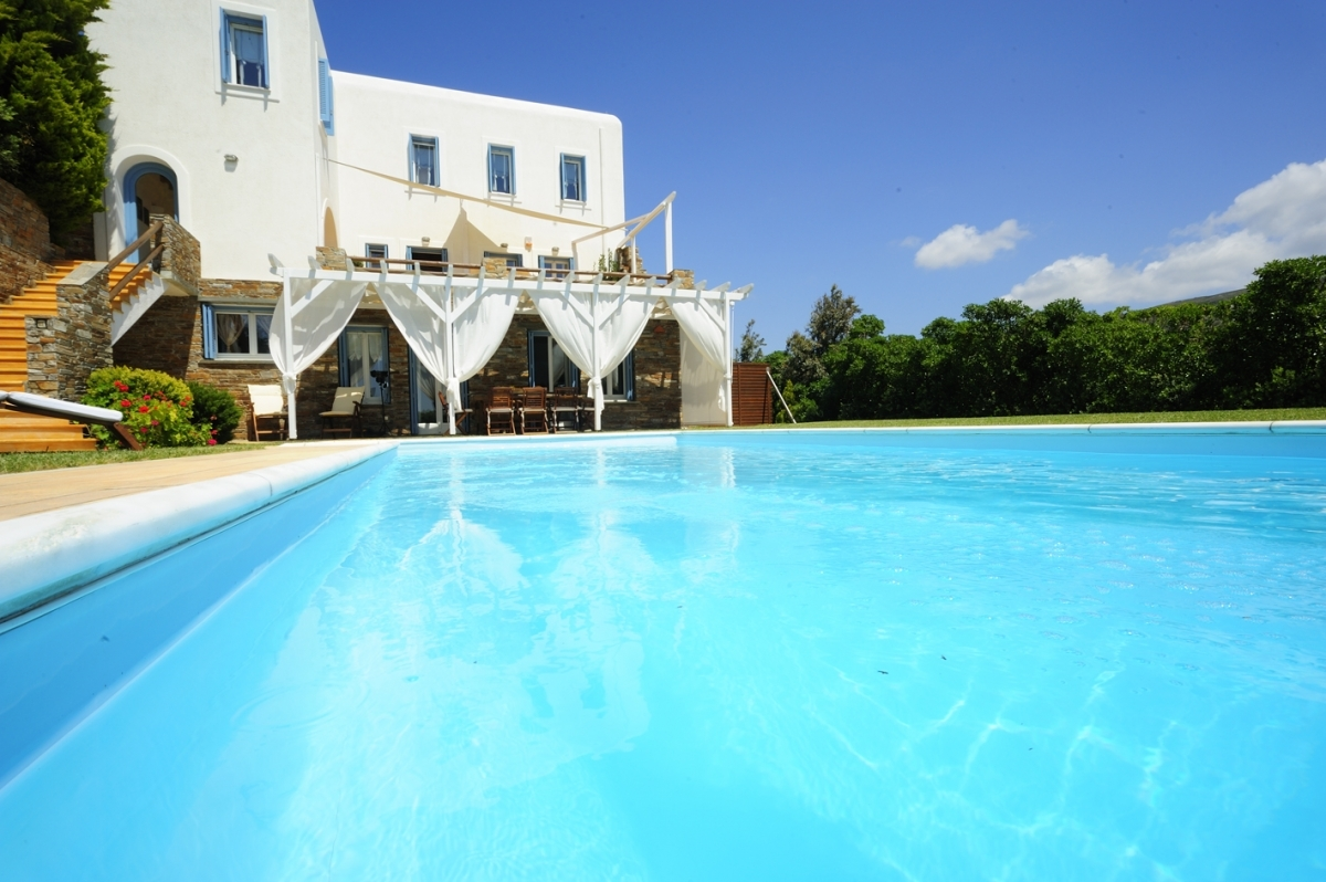 Our Villa Etheria with the private pool