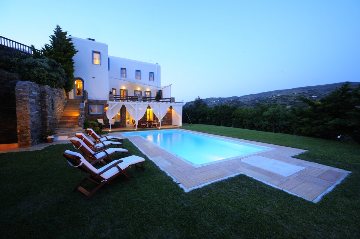 Villa Etheria in beautiful evening lights