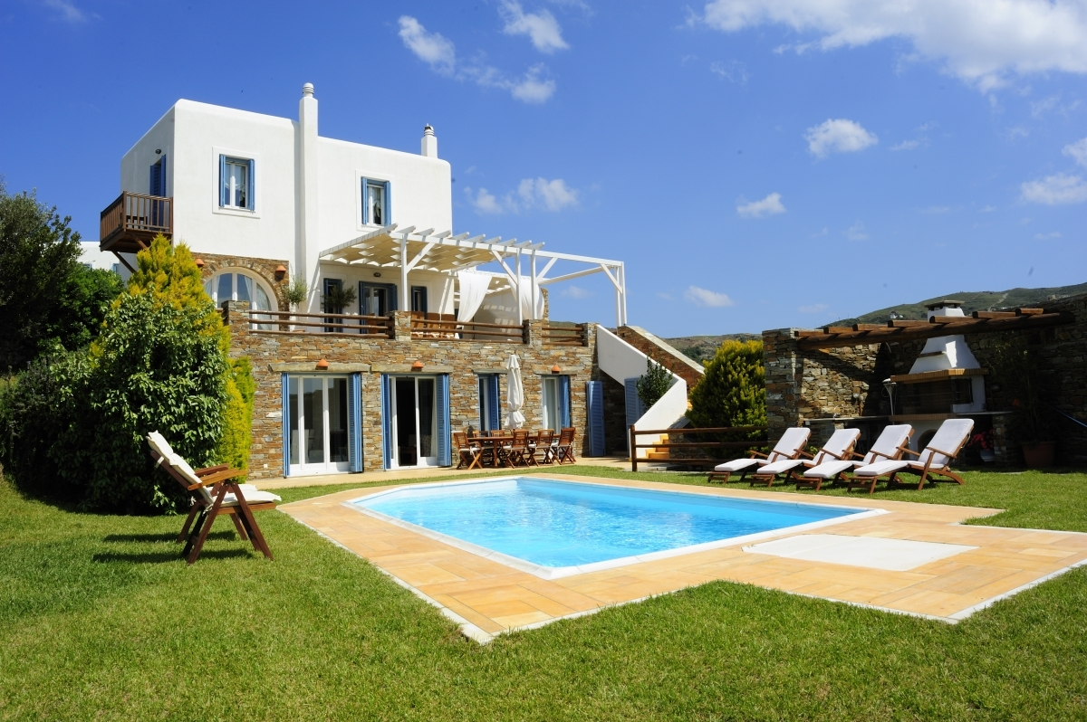 Our Villa Helias with pool and garden