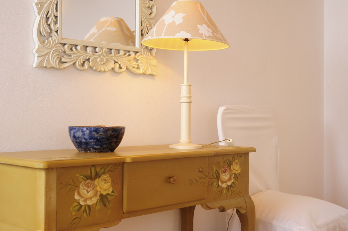 Vintage furniture in the villa bedrooms