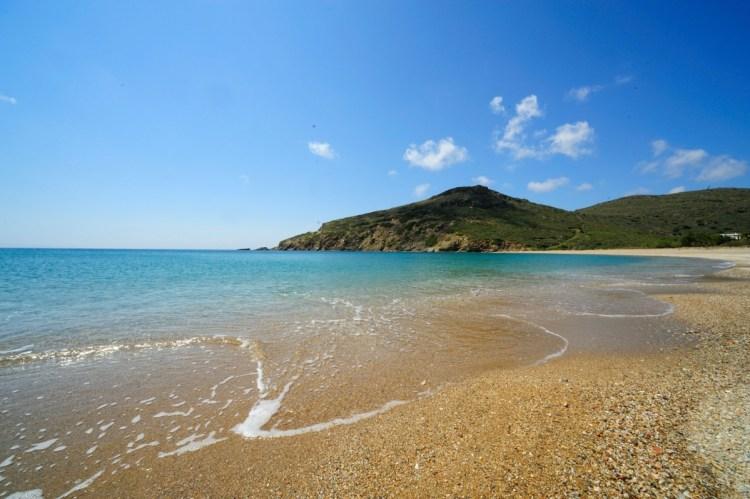 Sandy beach of Fellos