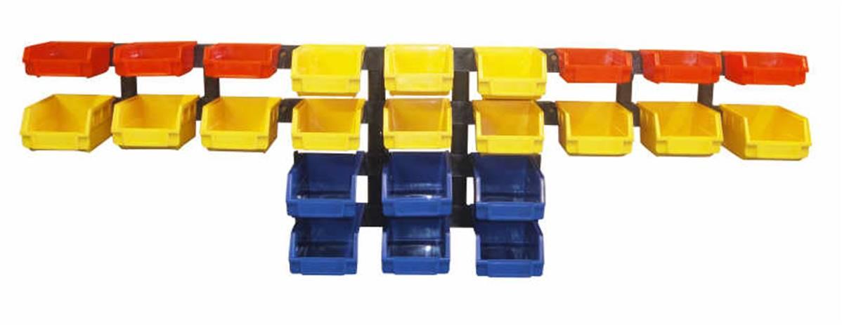 24 bacs casiers de rangement pour garage atelier et depot
