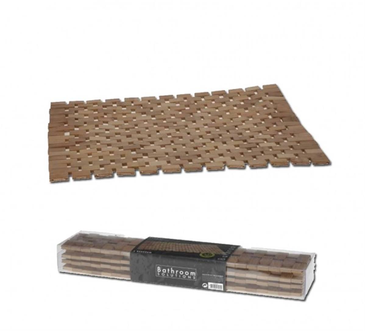 tapis de bain pour douche et baignoire en bambou design