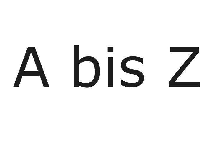 Wichtiges von A bis Z