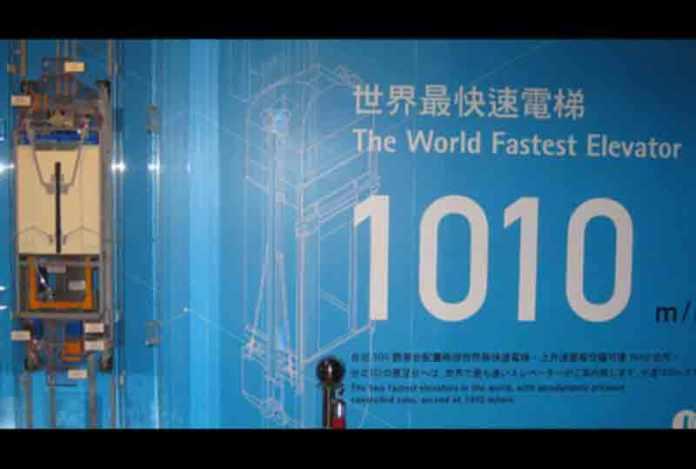 fastest elevator china