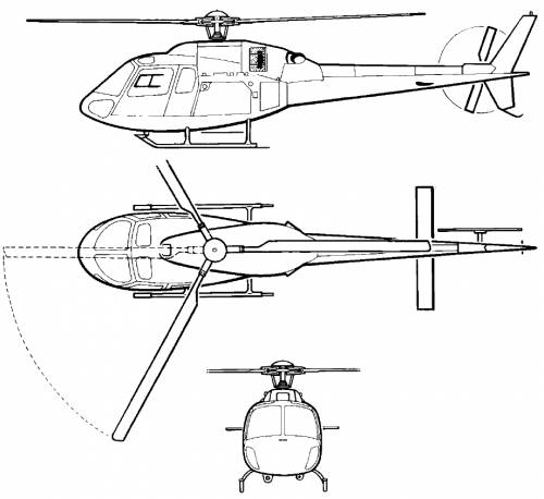 Eurocopter AS355 NP Ecureuil / Twinstar helicopter