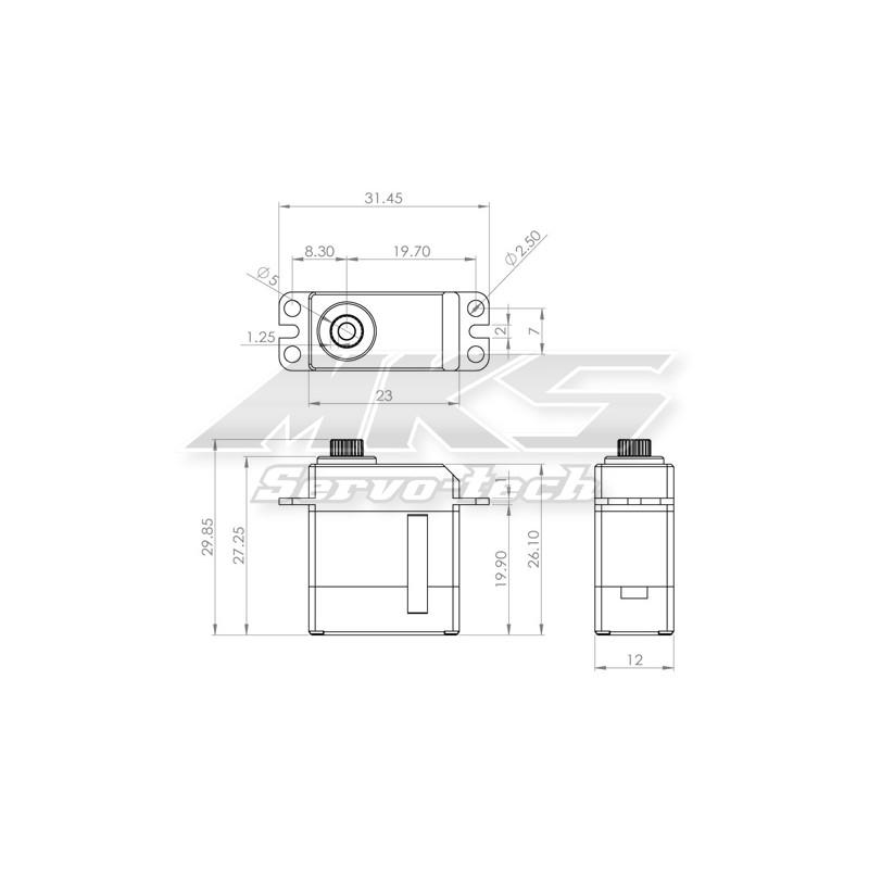 MKS DS95i digital Micro Servo