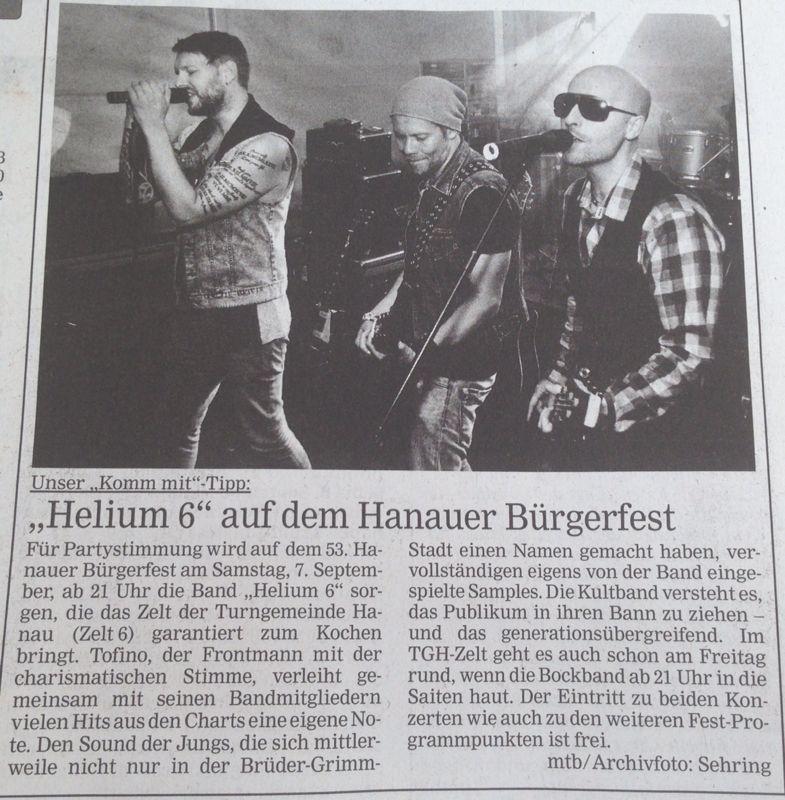 helium6 Bürgerfest Hanau