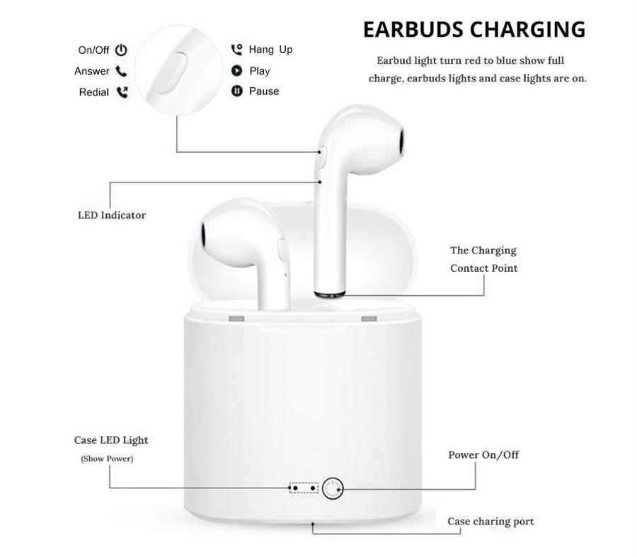 Ζήστε Έξυπνα! :: i7S TWS True Wireless Bluetooth Earbuds