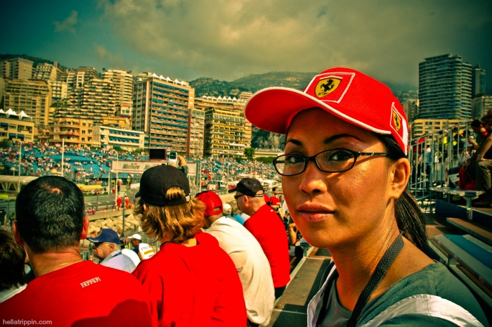 In the grandstands at the 2007 F1 Monaco Grand Prix.