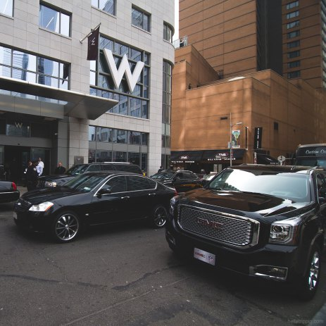 Outside the W