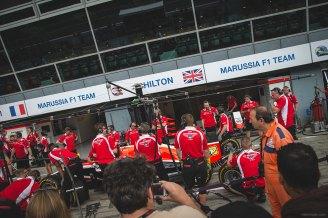 Marussia pit crew