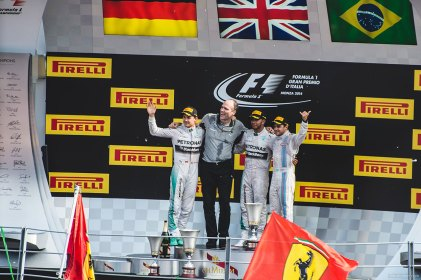 Atop the podium at Monza