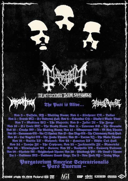 mayhem tour poster