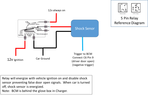 small resolution of wanting to add shock sensor to factory charger hc alarm system rh hellcat org car alarm door switch diagram basic car alarm diagram