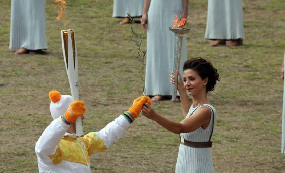 The Lighting of the Olympic Flame for PyeongChang 2018