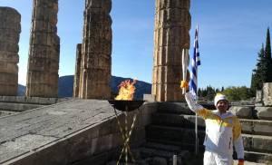 H Ολυμπιακή Φλόγα θα φτασει στην ακροπολη το βραδυ